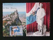 SAN MARINO MK 1963 EUROPA CEPT MAXIMUMKARTE CARTE MAXIMUM CARD MC CM c6572