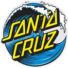 "Santa Cruz Skateboards Wave Dot 6"" Large Sticker FREE SHIPPING"