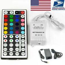 44 Key IR Remote Controller fo RGB LED Strip Light + 12V 4A Power Supply Adapter