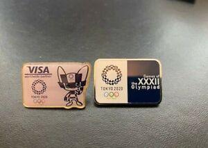 Tokyo 2020 Olympic Games Japan Logo 2 Pin Badges & VISA Mascot