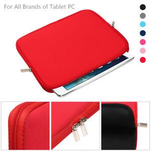 Pouch Tablet Bag Sleeve Case For Apple iPad Samsung Galaxy Tab Huawei MediaPad