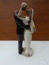 statue d un couple de marié squelette  , déco intérieur , nouveau !