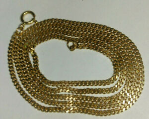 """Solid 18k rose gold tiny dainty cuban chain necklace 4.42 grams  17.33"""""""