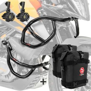 Set Sturzbügel + Scheinwerfer für KTM 390 Adventure 20-21 + K3 schwarz