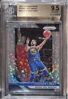 Pop 3💎2018-19 Stephen Curry PANINI PRIZM SILVER FAST BREAK #222 BGS 9.5 PSA