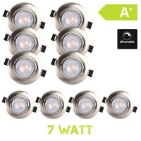 LED Spot Encastré 7W Blanc Chaud Dimmable 10er Set