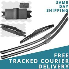 """For Renault Espace 2002-14 Front/Rear Windscreen 28"""" 26"""" 14"""" Aero Wiper Blades"""