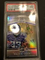 2017 PANINI DONRUSS OPTIC DALVIN COOK #15 GRIDIRON KINGS SILVER PRIZM PSA MINT 9