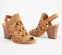 Vince Camuto Cutout Nubuck Heeled Sandals- Deverly Size 8.5