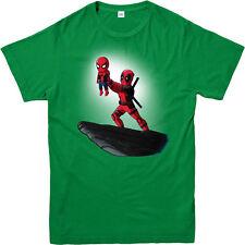 Deadpool T-Shirt,Spiderman Lion King Spoof,Marvel Comics Adult and kids Sizes