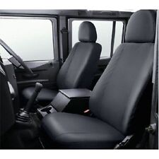 Land Rover Defender 2007 On Black Waterproof Front Seat Covers - VPLDS0011