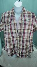Basic Editions Shirt blouse 1 X Purple Plaid 2 piece Top Camisole Lt purple NWT