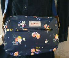 Cath Kidston Handbag Shoulder Cross Body Matt Oilcloth Busby Navy Blue Pink