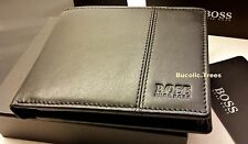 BRAND NEW DESIGNER HUGO BOSS WALLET 'CAENESTIR' 50222660 BIFOLD BLACK GIFT BOXED