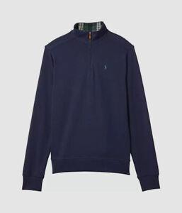 $80 Polo Ralph Lauren Kid's Blue 1/4 Zip Pullover Logo Sweater Sweatshirt Size M