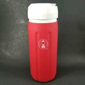 Coleman Lantern Water Bottle Insulated Rubber Sleeve FlipTop Lid 32oz Tumbler EX