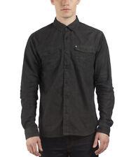 Camicie casual da uomo a manica lunga nera