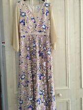 Dress Size 12 ASOS Embroidered Nude Maxi Wedding Prom Occassion Wedding Modest