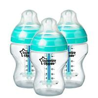 Tommee Tippee Advanced Anti-Colic Baby Bottles, 260 Ml, 3 Count