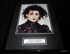 Edward Scissorhands Johnny Depp Framed 11x14 Photo Display