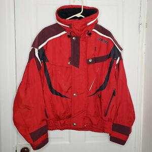 Vintage 90s Spyder Red Ski Jacket Tech Coat Snowboard Winter Mens Large RARE
