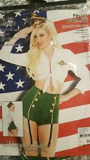 Pin up Military 3 pc. Costume- Womens small