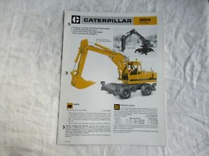 1984 CAT Caterpillar 224 excavator brochure