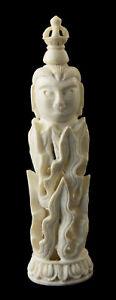 Buddha Flame Siegel Tibetisch Buddhistische Tantrische Geschnitzt Selten 26470