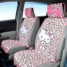 Hello Kitty pink leopard seat cover 2 seat Seiwa KT459 4599