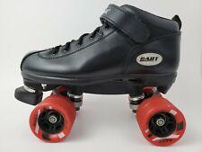Riedell Dart Roller Quad Skates Size 7 Black Leather