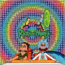 RICK and M0RTY Fear & Loathing BLOTTER ART perforated paper psychedelic art