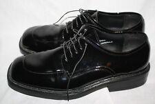 Mens After Six 10.5M Black Faux Patent Leather SquareToe Dress Tuxedo Shoes
