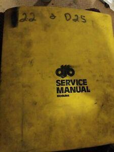 CAT CATERPILLAR D22 D25 DUMP TRUCK SERVICE SHOP REPAIR BOOK MANUAL