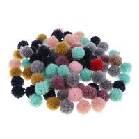 100pcs Pompons Multicolor for DIY Headwear, Errings, Keyring Card Making