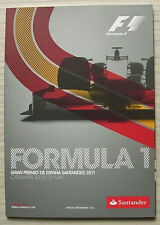 SPANISH GRAND PRIX FORMULA ONE F1 2011 CATALUNYA Official Programme