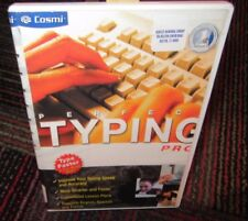 PERFECT TYPING PRO BY COSMI PC CD-ROM, TYPE FASTER, 15 MIN. A DAY, SKILLS,DRILLS