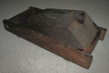 """Antique 11 1/2"""" SIGNAL Salute CANNON w/ Wooden Base & Carriage"""