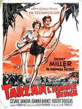 Tarzan Ape Man 1959 Poster 04 A2 Box Canvas Print