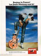 PUBLICITE ADVERTISING 095  1980  MUSTANG   jeans & jackets