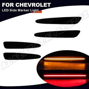 4X For 2005-2013 Chevrolet Corvette C6 Smoked LED Side Marker Light Front & Rear