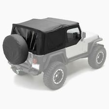 97-06 Jeep Wrangler TJ Replacement Soft Top with Tinted Windows & Upper Doors