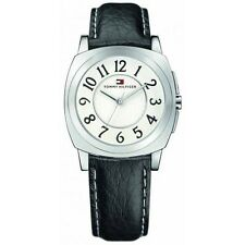 New Tommy Hilfiger Black Leather Band Women Dress Watch 35mm 1780882
