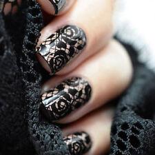 10Pcs Black Lace Floral Nail Art Transfer Foil Women Nail Dec Manicure Tool##