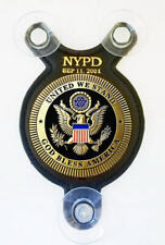 Salute Heroes officers on Sep 11. 2001 NYPD Supporter Police car shield-FOP-PBA