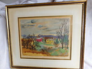 MARIE R. MACPHERSON Old Homestead & Barn Serigraph, Signed & Numbered in Pencil