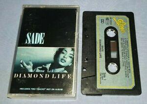 SADE DIAMOND LIFE PAPER LABELS cassette tape album A1562