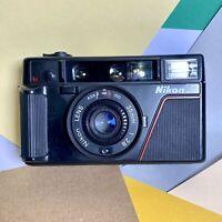 serviced / refurbished Nikon l35af 35mm point and shoot compact film camera!