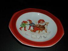 Seltmann Bavaria Germany Christmas Santa Claus & Helper Elves Mice Serving Bowl