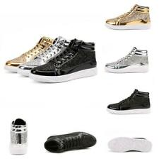 Men Breathable Sequin Casual Sport Running Athletic Walking High Top Board Shoes