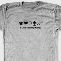 I LOVE COUNTRY MUSIC Funny Rude T-shirt Anti Hillary Clinton Tee Shirt